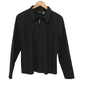 Black Zip minimalistic Blazer ladies 12/14